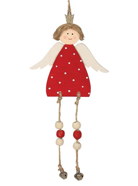 Anjo natalício vermelho para a árvore de Natal