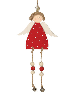 Înger de Crăciun roșu pentru brad