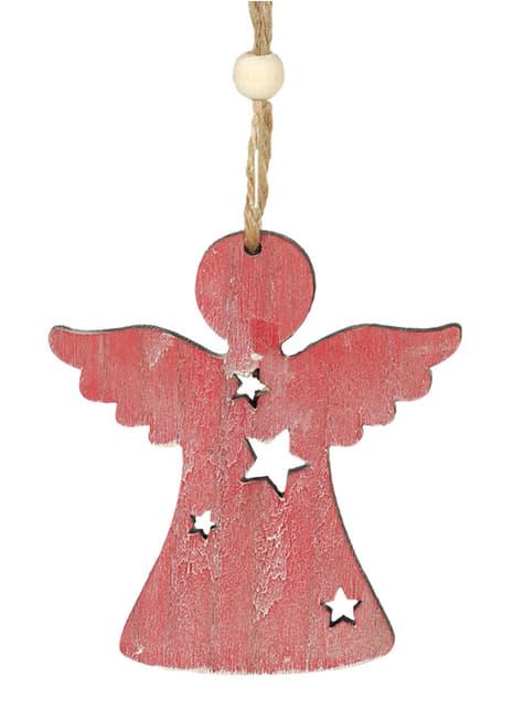 Anjo natalício cor-de-rosa para a árvore de Natal