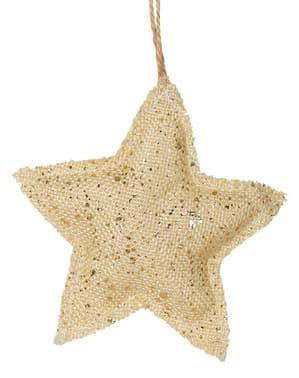 Estrela natalícia dourada para a árvore de Natal