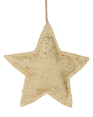 Estrella navideña dorada grande para el árbol