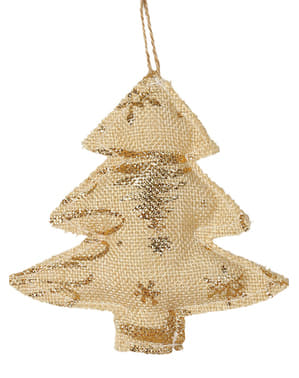 Gold Christmas Tree Ornament