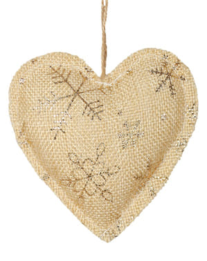 Gold Heart Christmas Tree Ornament