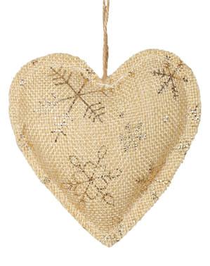 לב זהב עץ חג המולד קישוט