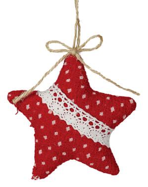 Stea de Crăciun roșie pentru brad