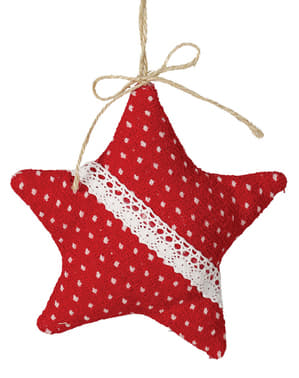 Large Red Star Christmas Tree Ornament