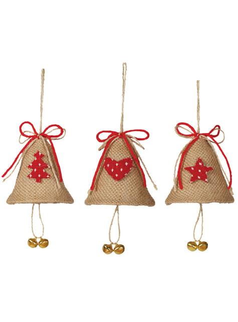 Campana navideña surtida para el árbol - barato