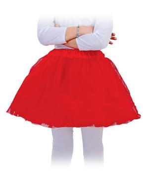 Tutu infantil vermelho