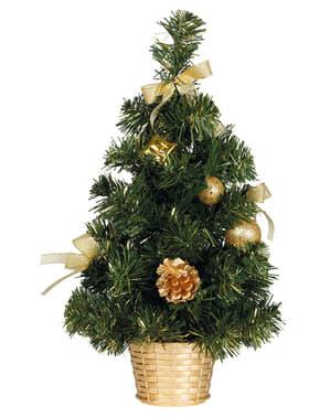 Mini árbol navideño dorado