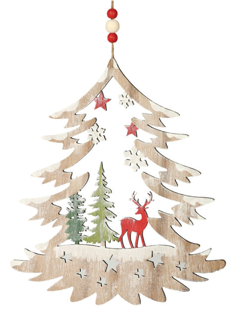 Mini árbol navideño con reno