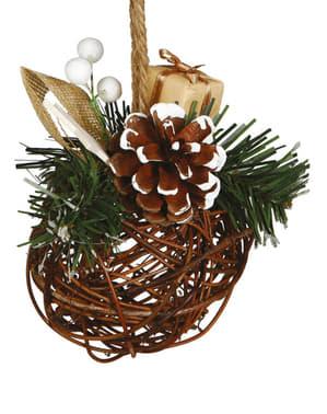Wicker Christmas Bauble
