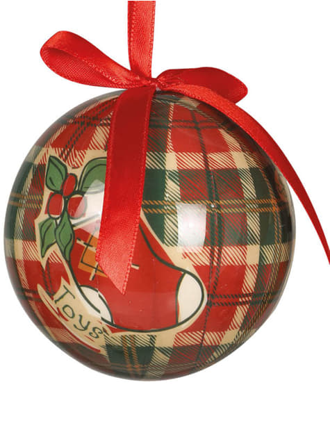 Set de 6 bolas navideñas decoradas