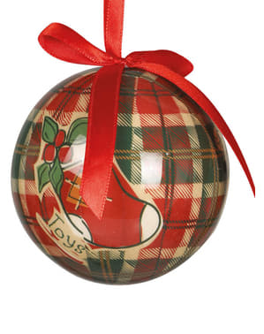 6 kpl setti joulukuusenkoristeita joulu-kuvioinnilla