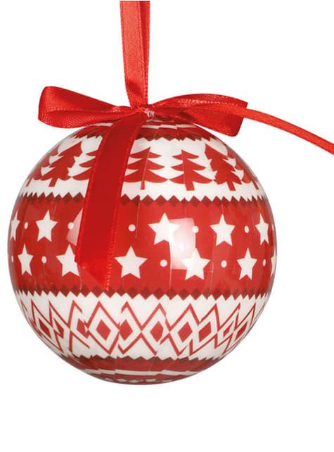 6 palline natalizie decorate con stelle