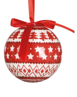 6 julgranskulor dekorerade med stjärnor