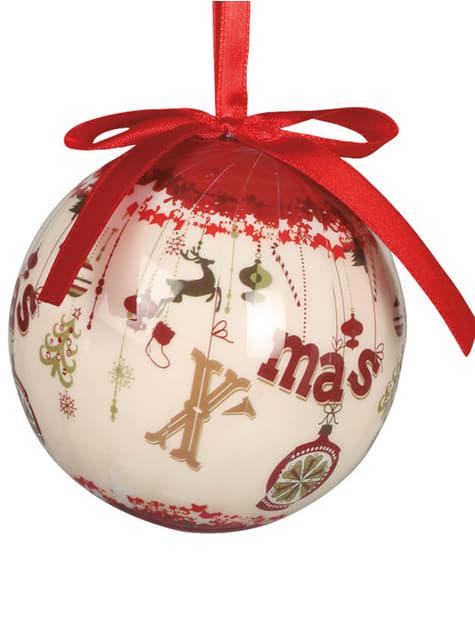 Set de 6 boules de Noël décorées  X-Mas