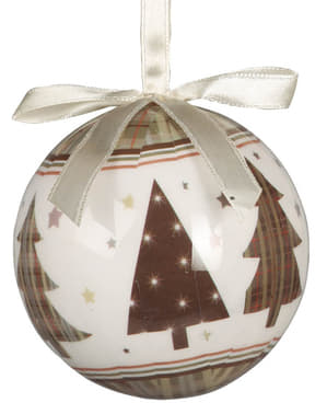 Set de 6 boules de Noël décorées de sapin