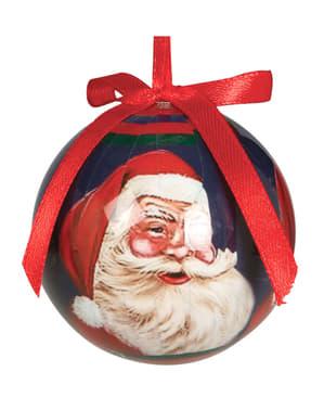 Weihnachtskugel Set mit Weihnachtsmannmotiv 6-teilig