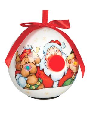 Pallina natalizia bianca decorata con led