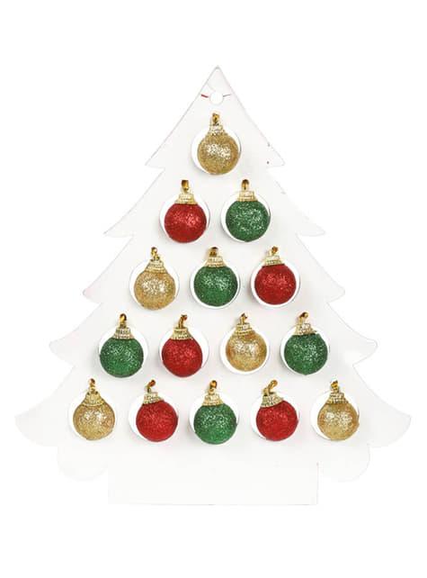 Bolas navideñas escarchadas