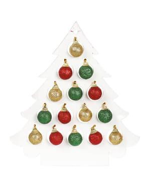 Glitteriset joulukuusenkoristeet