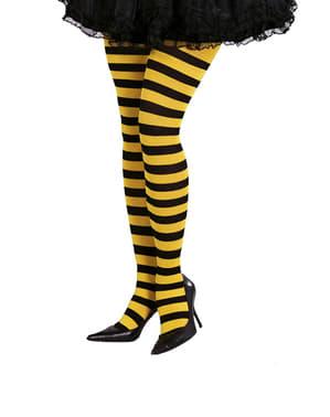 Punčochy pruhované žluto-černé