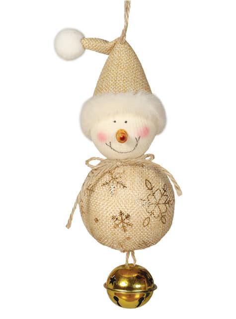 Bola navideña de muñeco de nieve