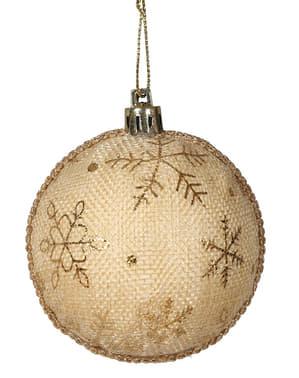 2 palline natalizie con fiocco di neve