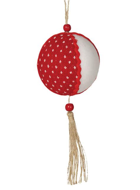 Bola de Natal vermelha e branca