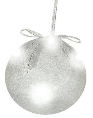 Silver Bauble with Lights
