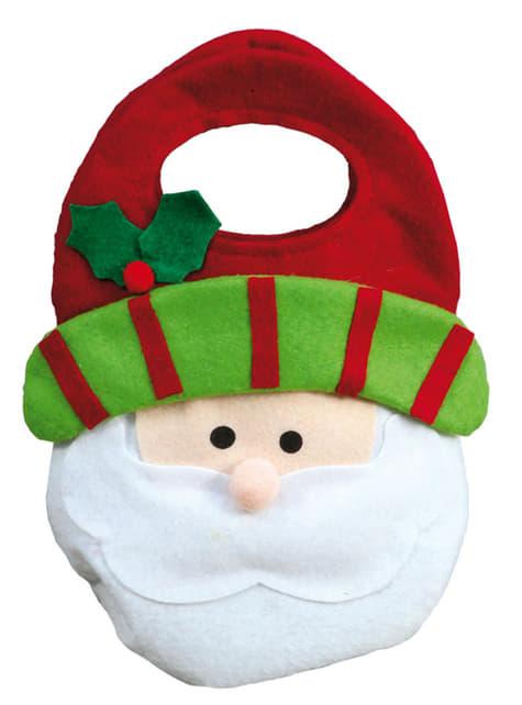 Bolsa navideña de Papá Noel