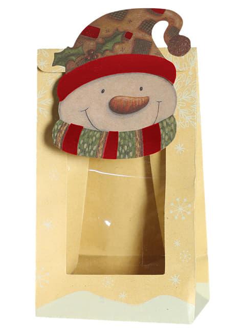 Set de 3 bolsas navideñas de muñeco de nieve