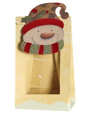 3 bolsas navideñas de muñeco de nieve