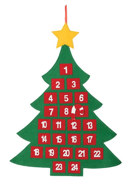 Calendario de adviento de árbol navideño
