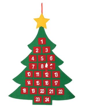 Calendario avvento di albero di Natale
