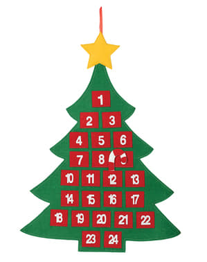 Karácsonyfa adventi naptár