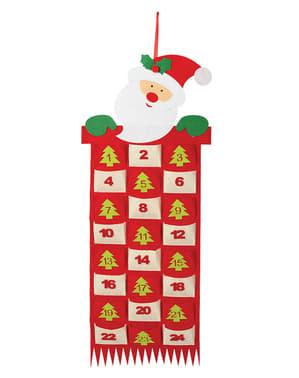 Calendario navideño de Papá Noel