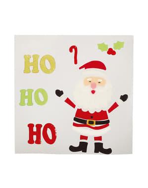 Decoración navideña de Papá Noel para pared