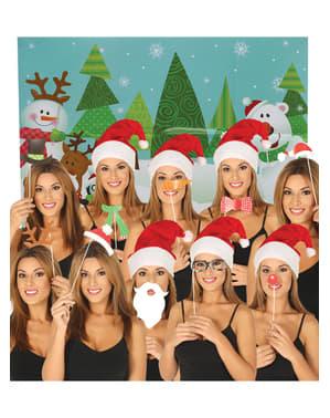 Jule Photo Booth Tilbehørs Sæt