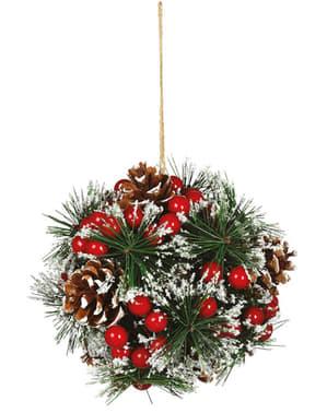 Weihnachtlicher Mistelzweig zum Aufhängen
