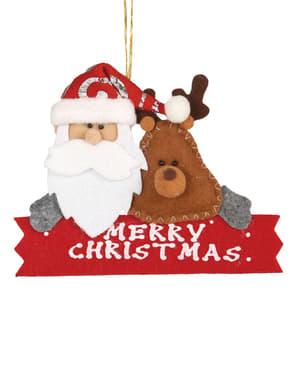 Adorno navideño Merry Christmas para el árbol