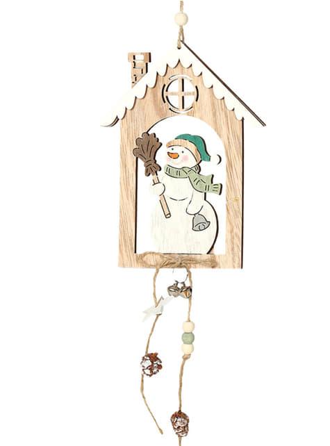 Colgante navideño de muñeco de nieve