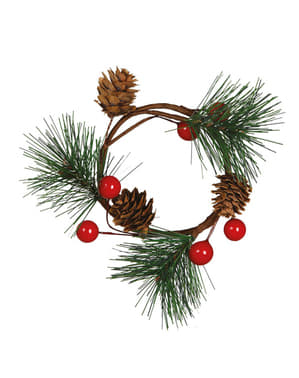 Centrotavola natalizio foglia di pino