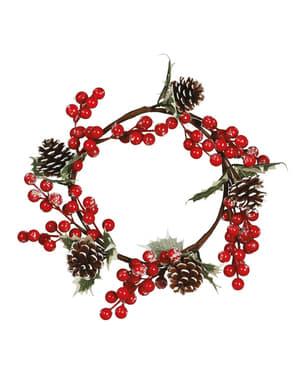 Mistelzweig Weihnachtskranz mit Tannenzapfen