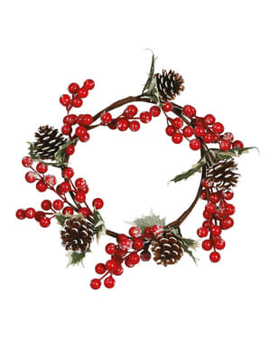 Stor Jule Mistelten og Grankogle Centerpiece
