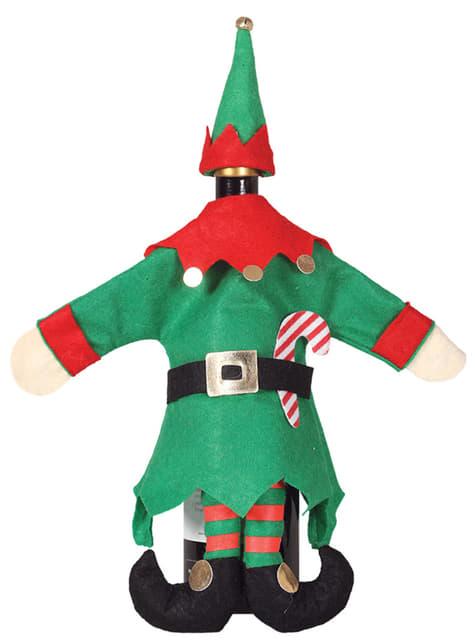 Weihnachtliche Elfen Flaschenhülle
