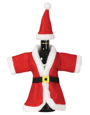 Capa natalícia para garrafa de Pai Natal