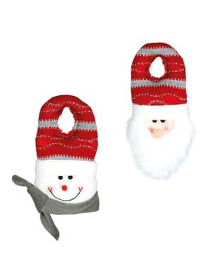 Ornament de Crăciun pentru mâner cu om de zăpadă