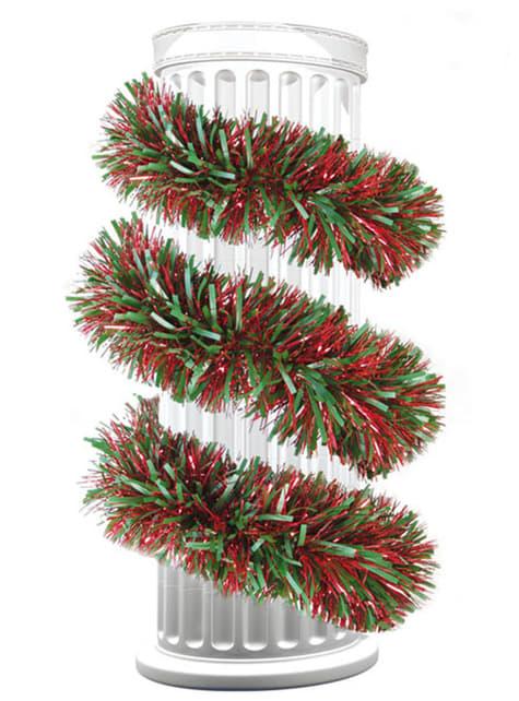 Vánoční lamety zelené a červené