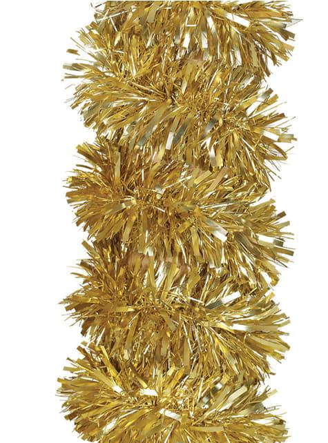 Espumillón navideño dorado mate